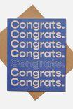 Congratulations Card, CONGRATS BLUE REPEAT