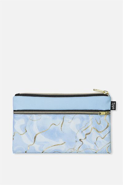Archer Pencil Case, CORNFLOWER AGATE