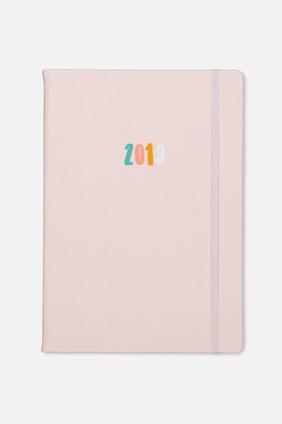2019 A4 Weekly Buffalo Diary, BLUSH