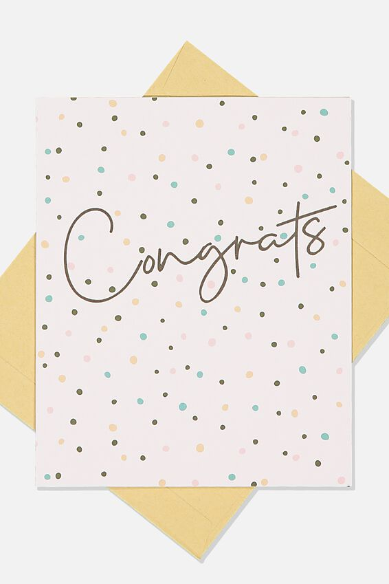 Congratulations Card, PINK SPOT CONGRATULATIONS