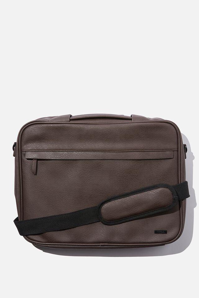 Commute Laptop Case 15 Inch, BITTER CHOC W/ VARIEGATED STRIPE BLACK&WHITE