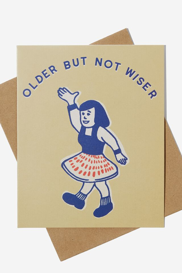 Funny Birthday Card, OLDER BUT NOT WISER MUSTARD