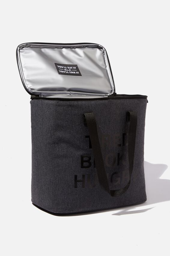 Oversized Cooler Bag, CHARCOAL CANVAS