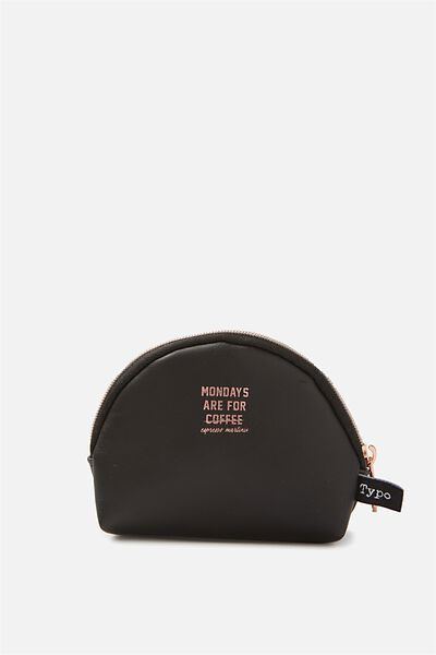 Half Moon Coin Purse, BLACK MONDAYS