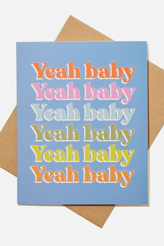Congratulations Card, YEAH BABY MULTI REPEAT