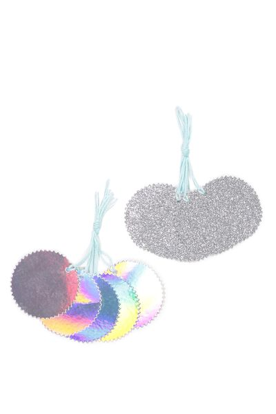 Gift Tags Set 10, HOLOGRAPHIC