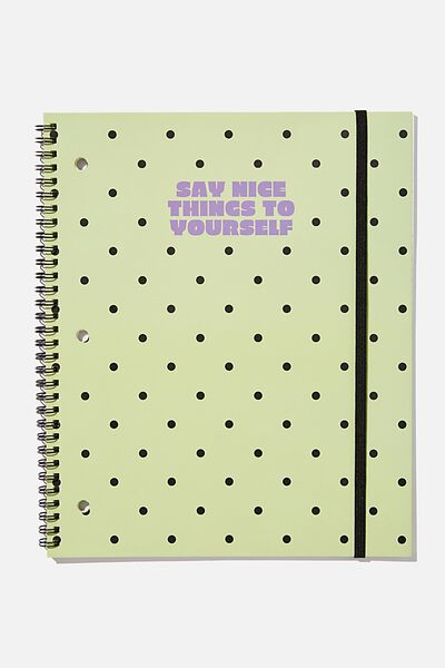 College Ruled Spinout Notebook V, SAY NICE THINGS