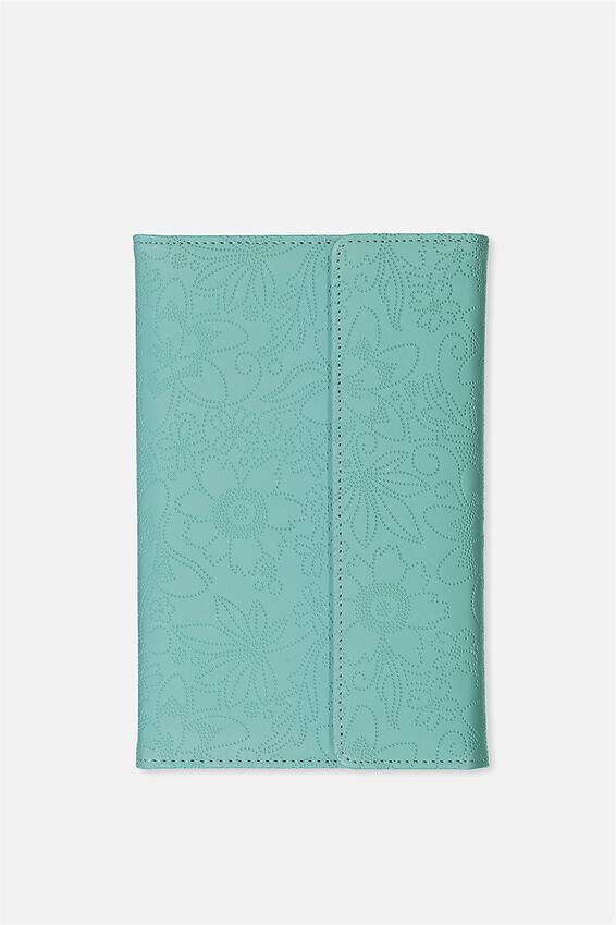 Undated Luxury Planner, BLUE FLORAL EMBOSS