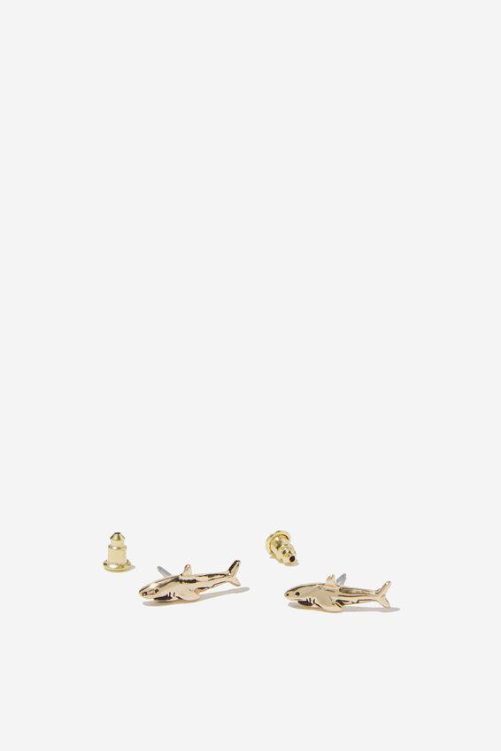 Novelty Earrings, SHARKS
