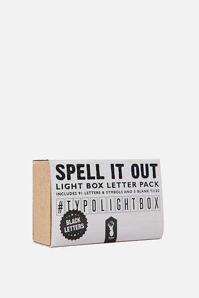 Light Box Letter Pack, BLACK