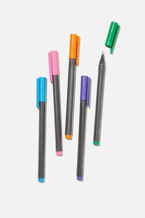 So Fine Fineliner 5Pk, BRIGHTS