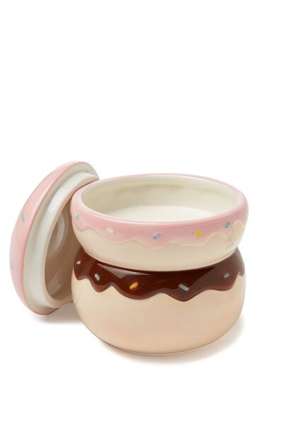 Large Ceramic Shaped Candle, DONUT