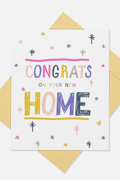 Home Card, CONGRATS HOME STARS