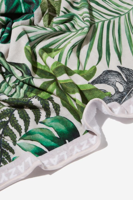 Printed Throw, FOLIAGE PRINT