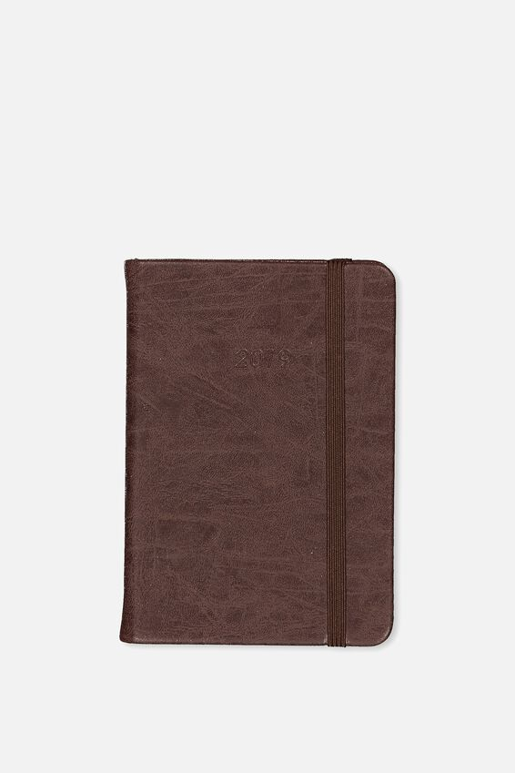 2019 A6 Weekly Buffalo Diary, VINTAGE TAN