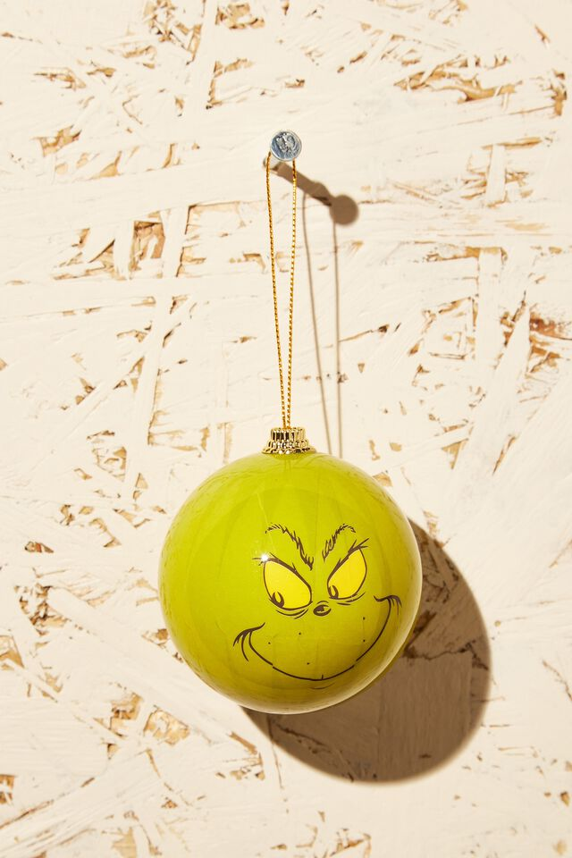 The Grinch Christmas Bauble, LCN DRS GRINCH FACE