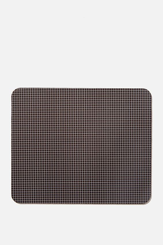 Neoprene Mouse Pad, BLACK GRID