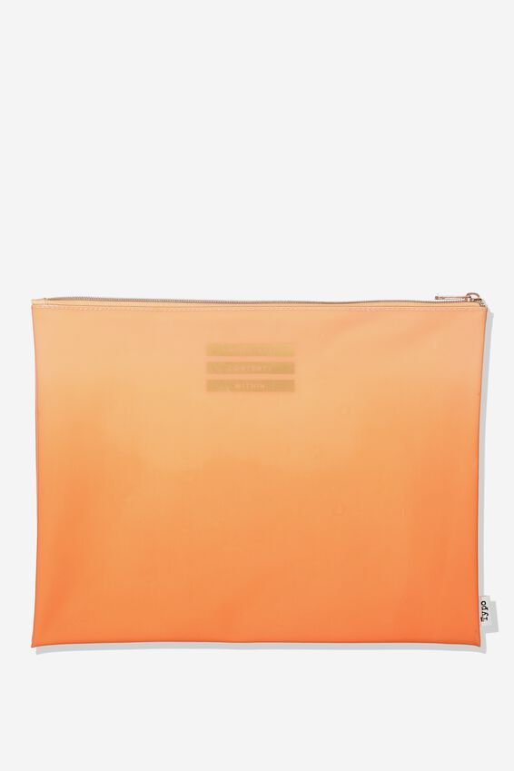 Printed Document Wallet, PEACH OMBRE