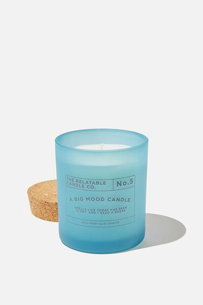 Relatable Quote Candle, TORQUOISE BIG MOOD CANDLE