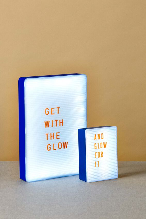 PegBoard Light Box, BLUE & CLEAR