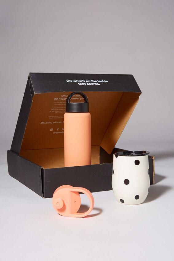 Happy Hour Gift Box, PEACH AND OVERSIZED POLKA