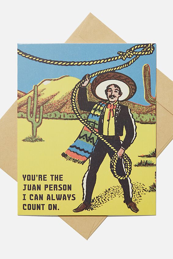 Love Card, THE JUAN I CAN COUNT ON