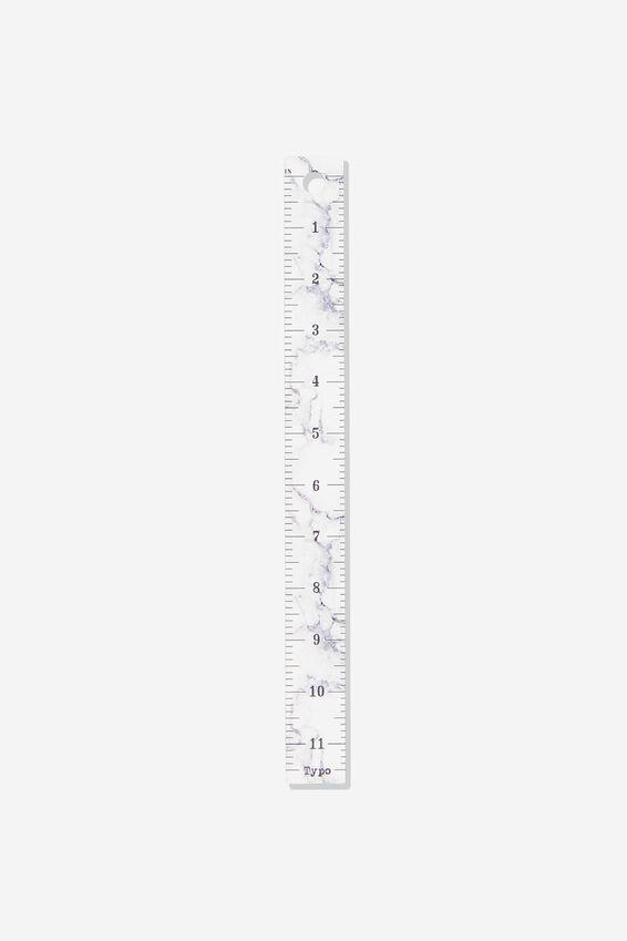 Novelty Ruler 30Cm, MARBLE