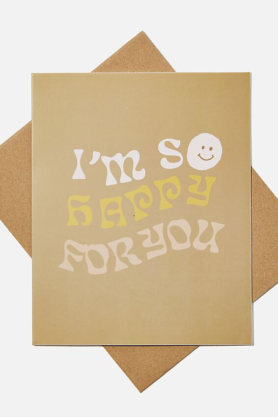 Blank Card, SO HAPPY FOR YOU SMILE
