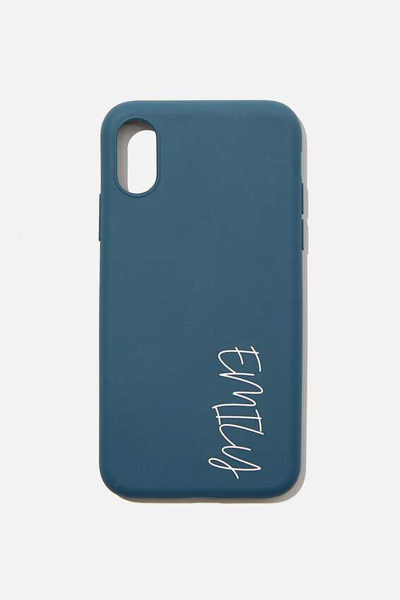 Personalised Slimline Recycled X/Xs Case, DEEP TEAL
