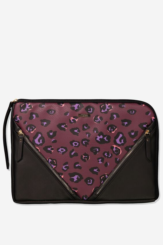 Premium Laptop Case 13 inch, PURPLE LEOPARD