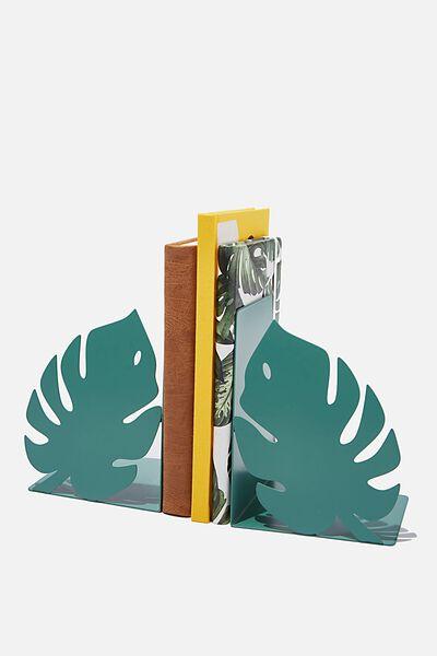 Metal Bookends, MONSTERA LEAF