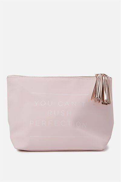 Florence Cosmetic Bag, BLUSH PERFECTION