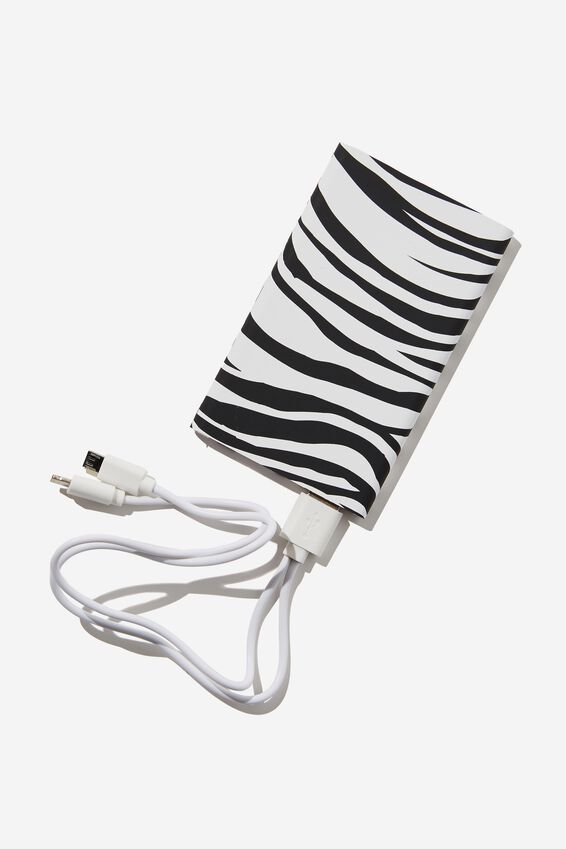Printed Charge It Charger, ABSTRACT ZEBRA