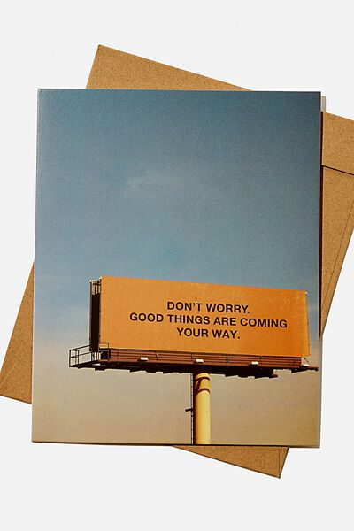 Blank Card, GOOD THINGS ARE COMING SIGN