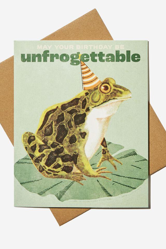 Funny Birthday Card, UNFROGETTABLE BIRTHDAY