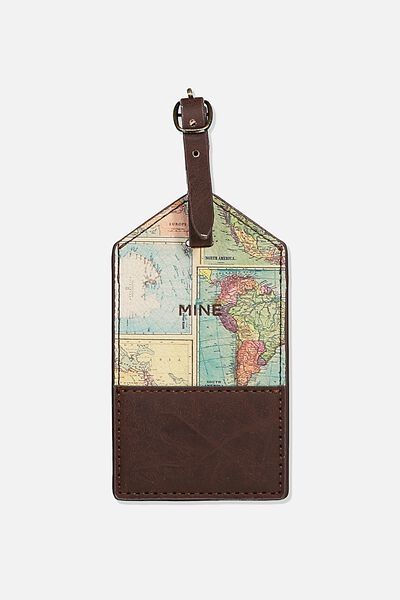 Luggage Tag, GOING PLACES WORLD MAP SPLICE