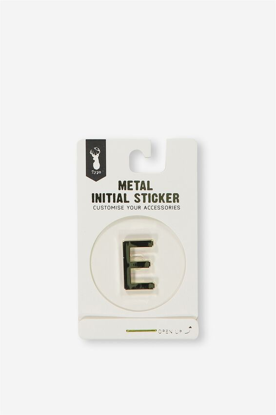 Metal Stickers, GOLD E