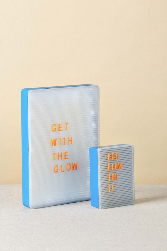 Peg Board Light Box, BLUE & CLEAR