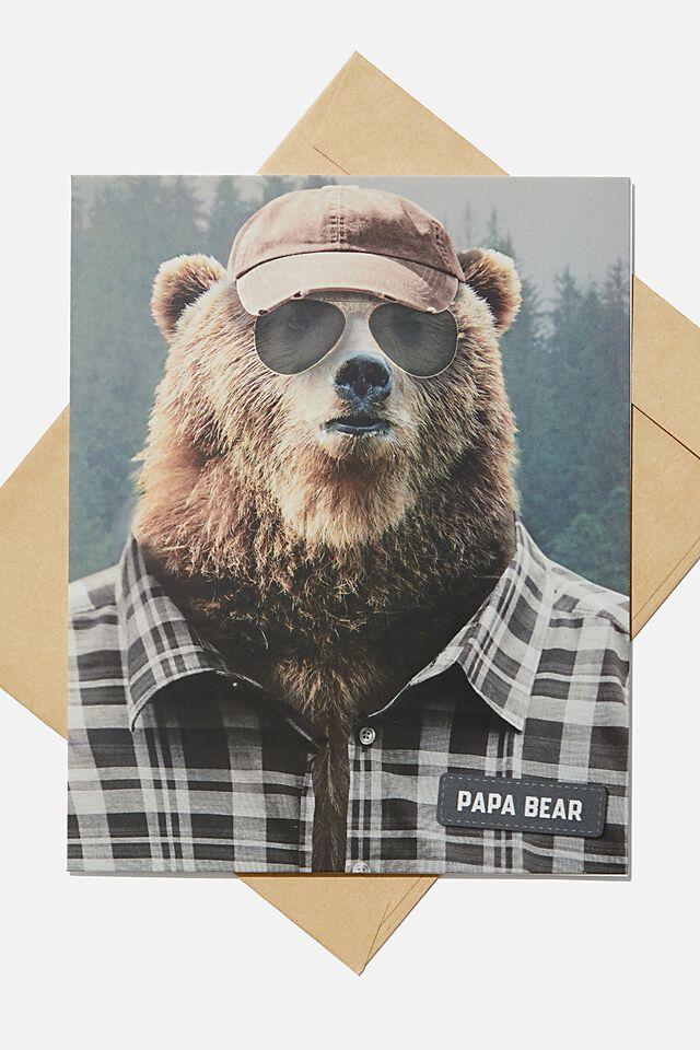 Fathers Day Card, PAPA BEAR