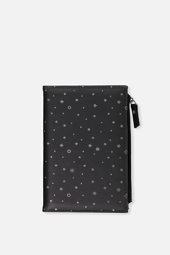 Travel Zip Journal, BLACK STARS