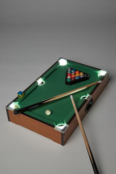 Large LED Desktop Pool Game, MULTI