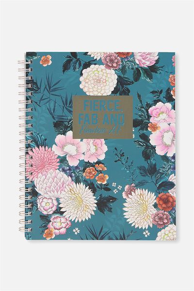 Large Campus Notebook - 240 Pages, FIERCE FAB & FLAWLESS!
