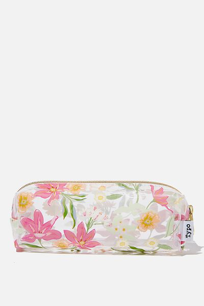 Clear Bailey Pencil Case, GARDEN PARTY FLORAL