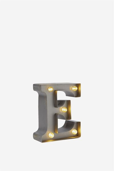 Mini Marquee Letter Lights 10cm, SILVER E