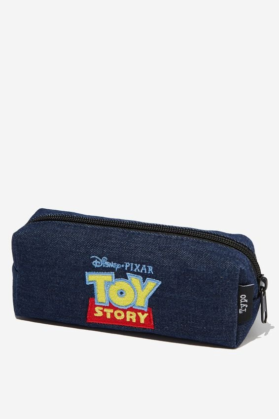 Toy Story Bailey Pencil Case, LCN TOY DENIM LOGO