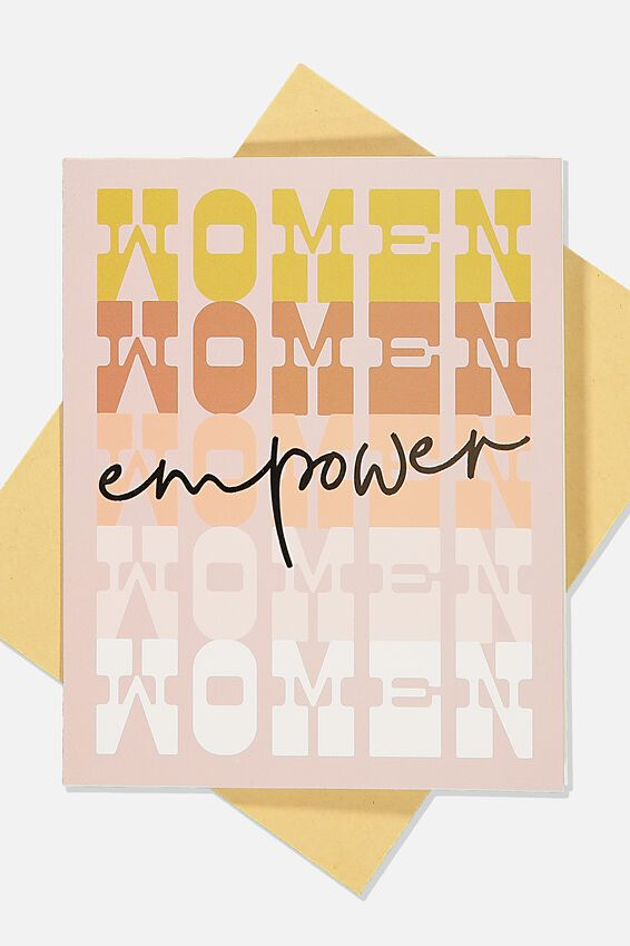Blank Card, EMPOWER WOMEN