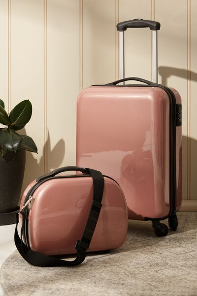Tsa Small Suitcase, ROSE GOLD SOLID