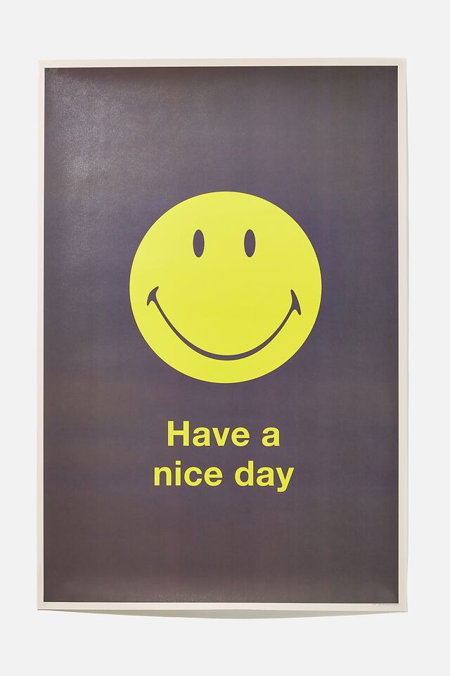 Smiley Hang Out Poster, LCN SMI SMILEY NICE DAY