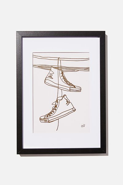 A4 Framed Print, SNEAKERS