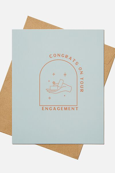 Engagement Card, CONGRATS ON YOUR ENGAGEMENT
